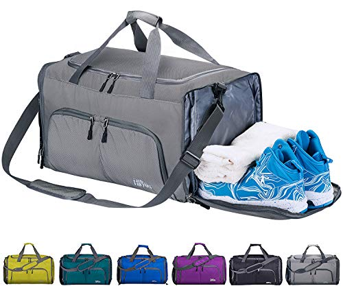 b487381c8474 FANCYOUT Foldable Sports Gym Bag with Shoes Compartment   We