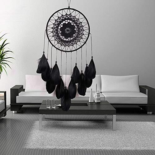 (Decorative Ornaments - Handmade Black Lace Dream Catcher Feather Bead Hanging Decoration Ornament Dreamcatcher Children - Decorative Bowls Room Living Hanging Decoration Ornaments)