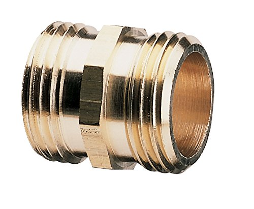 Gilmour 3/4-Inch Brass Double Male Hose Connector 7MH7MH