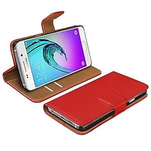 eFabrik–Funda para Samsung Galaxy A32016Cover BookStyle funda Slim Design Smartphone accesorio de protección de móvil Rojo