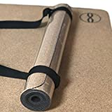 Cork Yoga Mat w/ Natural Rubber, Antimicrobial Surface, Ultra Low Impact, Non-Toxic, 3.5mm , Premium Heala Stretch Exercise Mat, No Towel, For Hot Yoga, Hypo-allergenic