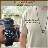 Escape & Evade® Wrist Compass - Luminous - Grade AA - Flip-Top Shell