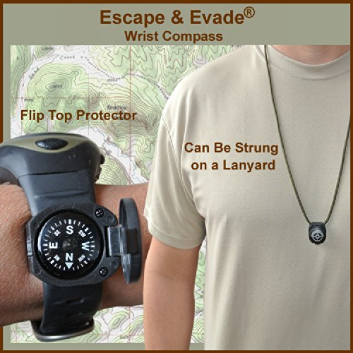 Escape & Evade® Wrist Compass - Luminous - Grade AA - Flip-Top Shell