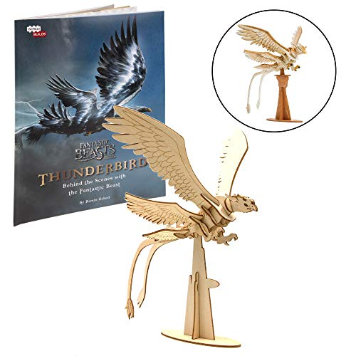 (IncrediBuilds Fantastic Beasts and Where to Find Them Thunderbird Book and 3D Wood Model Kit - Build, Paint and Collect Your Own Wooden Model - Great for Kids and Adults, 8+ - 7
