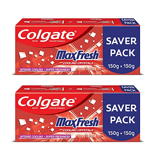 LD Colgate Maxfresh Spicy Fresh Red Gel Toothpaste 300 g Pack of 2
