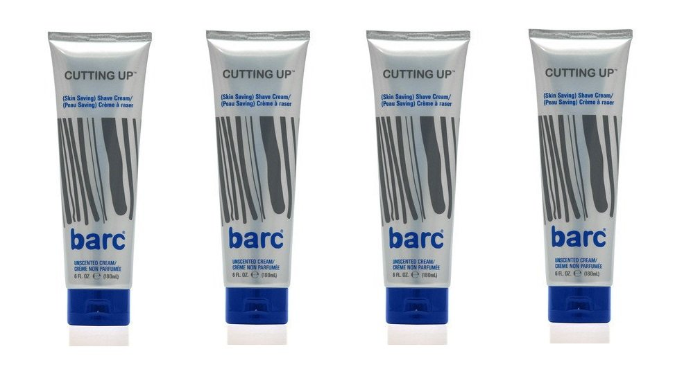 Barc Cutting Up Skin Saving Shave Cream, Unscented (6 Oz) (4 Pack)