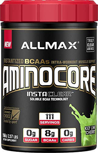 ALLMAX Nutrition Aminocore BCAAs, 100 Pure 45 30 25 Ratio, Key Lime Cherry, 1166 g