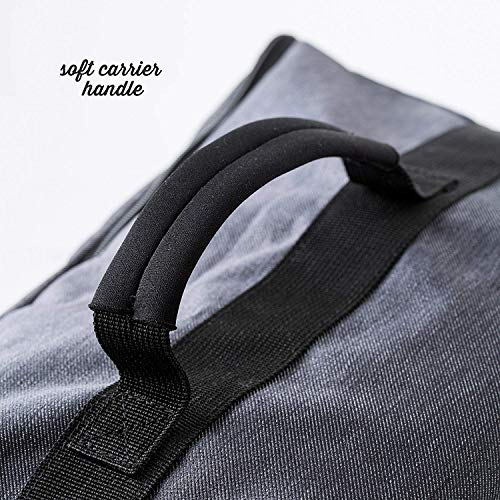 Premium Car Seat Travel Bag - Padded Backpack for Airplane Flight Gate Check In - Strong YKK Zip - Denim Color Protector Cover by Luvdbaby (Image #5)