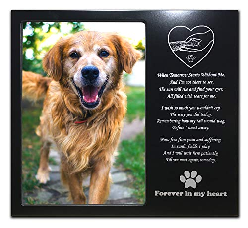 - JOEZITON Pet Memorial Personalized 4x6 Picture Frame for Loss of Dogs or Cats. (12)