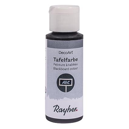 RAYHER - 38807000 - pizarra de color negro, botella 59 ml