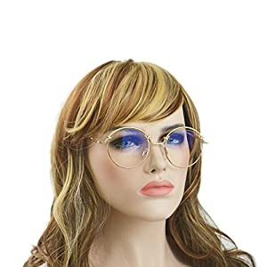 Aoron Lennon Style Vintage Round Sunglasses Clear and gradient82023