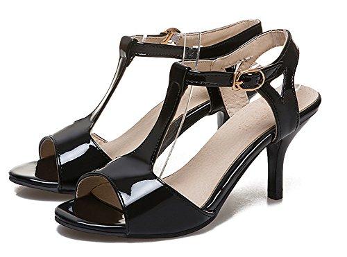 Bout Aisun Kitten Ouvert heel Noir Sexy Cheville Femme Sandales xqP6rIZq