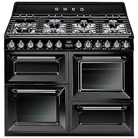 Smeg TR4110BL1 - Cocina (Cocina independiente, Negro, Botones ...