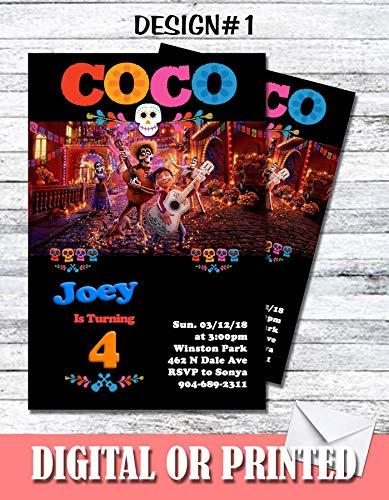 Coco Personalized Birthday Invitations More Designs Inside! (Guitar Birthday Invitations)