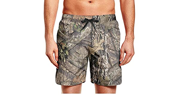 chchht Mens Swimming Trunks Board Shorts White Hawaiian Hibiscus Flowers Quick Dry Side Pockets Beach Wear Shorts
