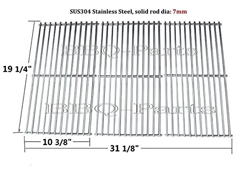 Charmglow Gas Grill Parts (Hongso SCI1S3 BBQ Stainless Steel Wire Cooking Grid Replacement for Select Gas Grill Models by Brinkmann, Charmglow, Costco, Jenn Air, Members, Nexgrill, Perfect Flame, Sams Club and Others, Set of 3)