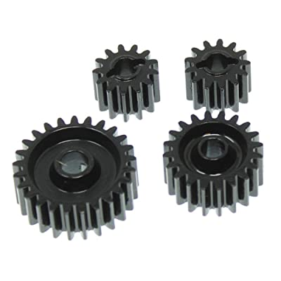 Redcat Racing RER11474 CNC Steel Gear Set for Gen 8 Scout II Transmission & Transfer Case, Black: Toys & Games