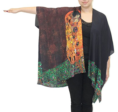 Cocoon House - Cocoon House Women's The Kiss Silk Long Kimono Jacket Oversized One Size Plus
