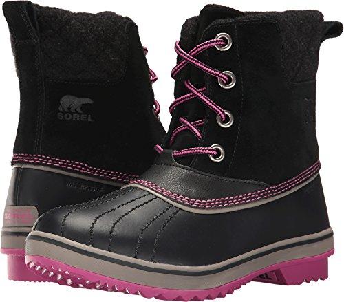 SOREL Kids Girl's Slimpack II Lace (Little Kid/Big Kid) Black/Kettle 1 Boot