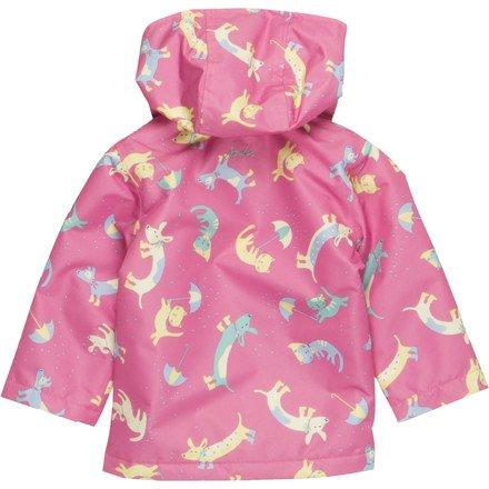 Joules Baby Meriweather Rain Jacket - Toddler Girls' Raining Cats & Dogs, 2T/3T