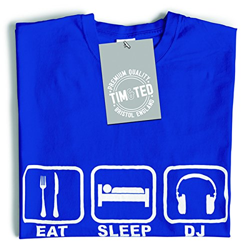 Tim and Ted Eat Sleep freddo DJ bastona partito Techno DnB Garage House Music T-Shirt Da Donna