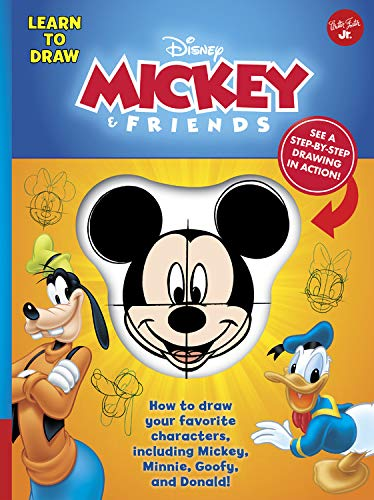 Learn to Draw Disney Mickey & Friends: How to draw your favorite characters, including Mickey, Minnie, Goofy, and Donald! (Licensed Learn to Draw) (Easy Step By Step Drawings Of Disney Characters)