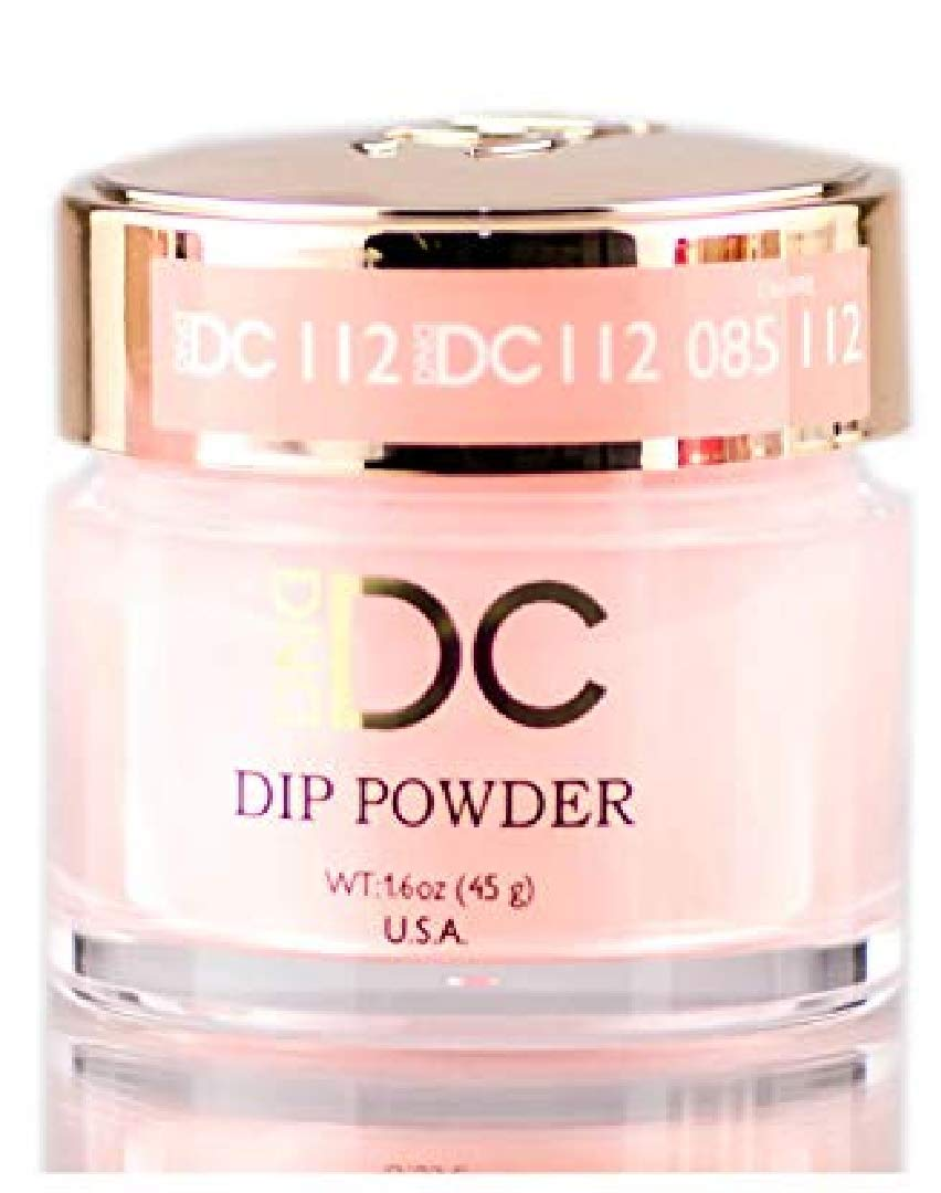 DND DC Reds & Orange DIP POWDER for Nails 1.6oz, 45g, Daisy Dipping (with Glitter) Made in USA (APPLE CIDER (112))