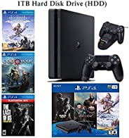 NexiGo 2020 Playstation 4 PS4 Console Holiday Bundle 1TB HDD + Included 3X Games (The Last of Us, God of War,