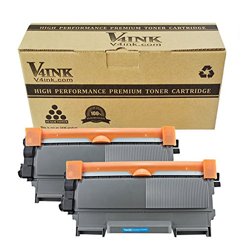 V4INK 2 Pack Replacement for Brother TN450 TN420 Black Toner