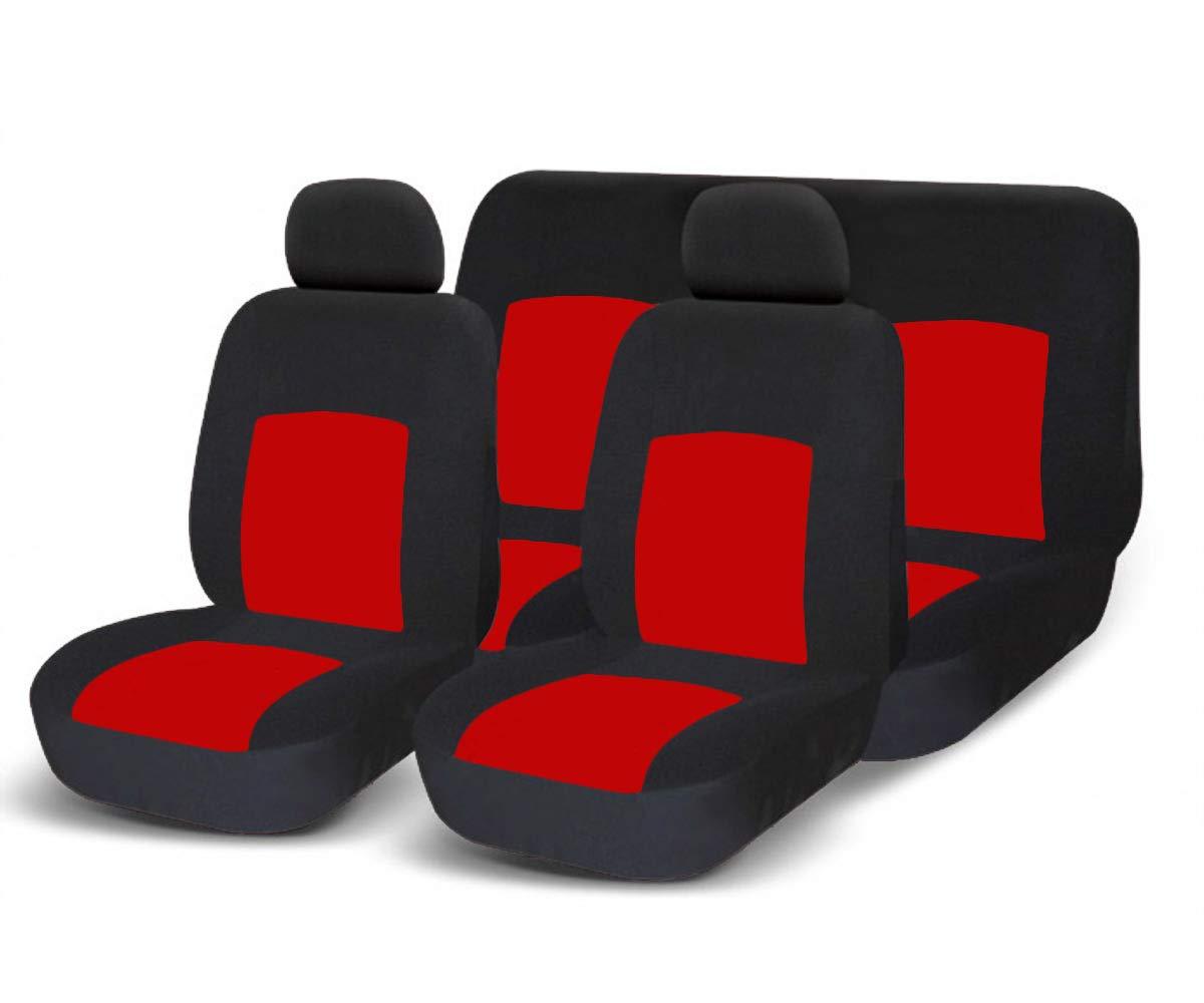 A19 per Auto con sedili Standard Medio Piccoli Coprisedili Auto universali con Copri Volante e Copri Cintura in Tinta con i sedili