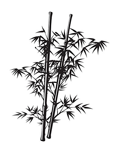 Stickerbrand Chinese Bamboo Wall Decal Tree. 7ft Tall (84in Tall x 65in Wide) Asian Home Decor for The Bedroom, Bathroom or Living Room. #332A