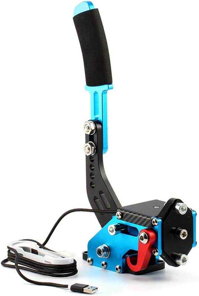 Geggur USB Pince De Frein /à Main PC SIM Racing Games G25 G27 G29 T500 Fanatecosw Dirt Rally Capteur Hall 14 Bits Noir//Rouge//Bleu
