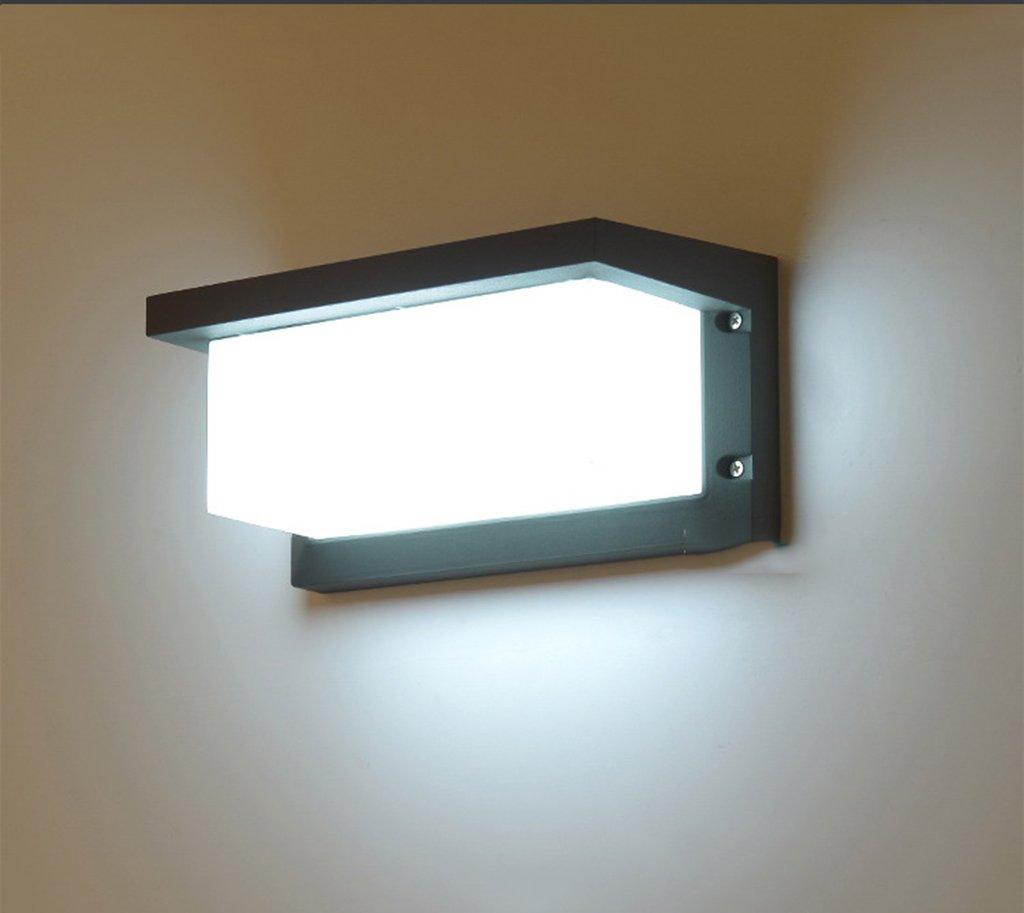 Applique - Lampada da parete a LED impermeabile per esterni Villa Porta Giardino Corridoio Balcone Lampada da parete per giardino patio (colore   Luce bianca)
