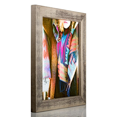 Craig Frames Gesso, Gray Plain Wooden Picture Frame, 12 by 16-Inch (Plain Wood Frames)