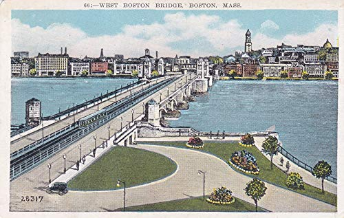 161VINT02 1931 66. - WEST BOSTON BRIDGE, BOSTON, MASS. (28317) Bridging the Charles River, connecting Boston and Cambridge in 1931 POSTCARD COLLECTIBLE POSTCARD VINTAGE ANTIQUE from HIBISCUS EXPRESS