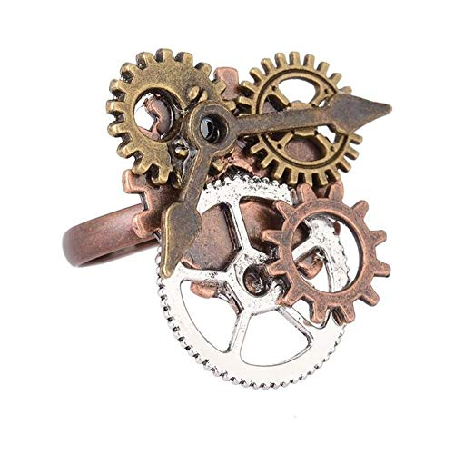 Acamifashion Vintage Antique Steampunk Watch Pointer Gears Opening Finger Ring Punk Jewelry - 8 from Acamifashion
