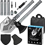 Survival Shovel Axe, BANORES Camping Shovel Multifunctional Sets 19.37-38.97inch Lengthened Handle and Thicken
