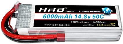 HRB 6000mah more than 5000mah 3S 11.1V 50C Lipo Battery Hard Case for Traxxas US