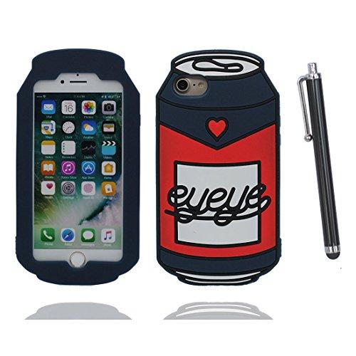 """iPhone 7 (4.7"""") Coque, [ de matériau TPU souple canette Can ] iPhone 7 étui (4.7 pouces), poussière glissement résistant aux rayures, iPhone 7 Case et stylet"""