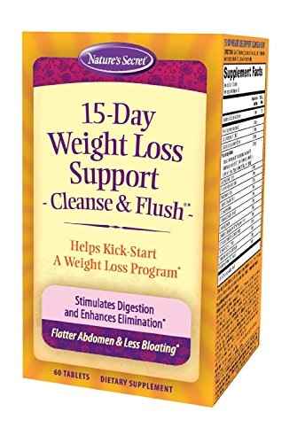 Nature's Secret 15 Day Weight Loss Support Cleanse & Flush 60 Count