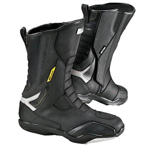Shima RSX-5 Men Black, Classic Road Sports Leather Protective Motorcycle Boots (42, Black)