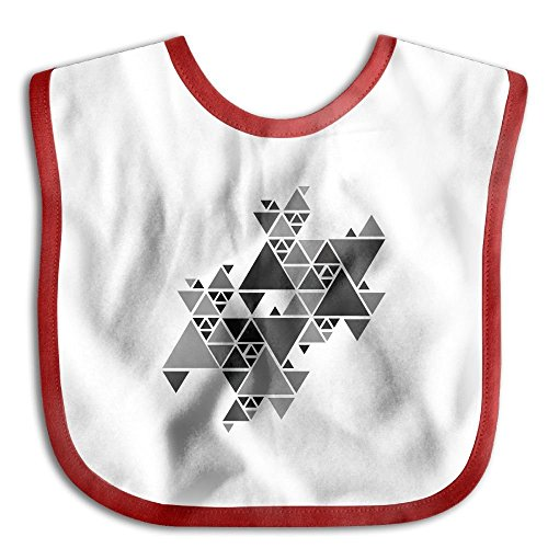 (Gray Triangle Puzzle Infant Toddler Bibs Adjustable Snaps Cute Prints Baby Bib Funny Baby Shower - Gift)