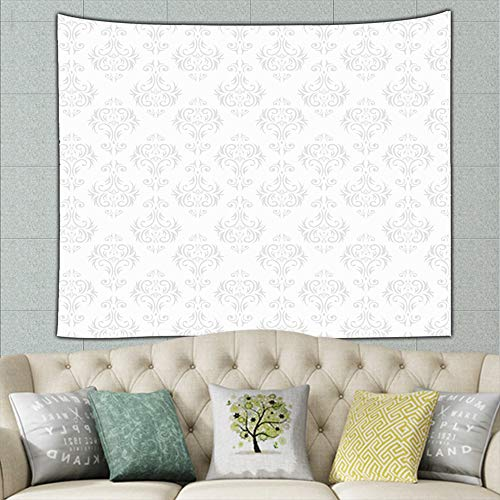 ong8 Damask Wallpaper Illustrations Clip Art Wallpaper Illustrations Clip Art Tapestry Wall Hanging, Wall Tapestry with Art Nature Home Decorations for Living Room Bedroom Dorm Decor 50ʺ × 60ʺ