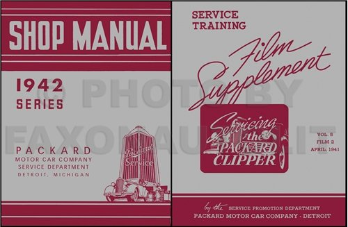 1941 Packard Clipper Repair Manual Set Reprint for sale  Delivered anywhere in USA