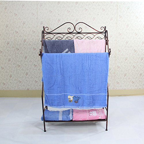 iron floor stand/Bathroom racks/double-bar Towel rack/Bathroom towels/storage shelf/Drying racks-B 80%OFF
