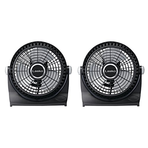 Lasko 507 10-Inch Breeze Machine Floor or Table Fan, Black 2