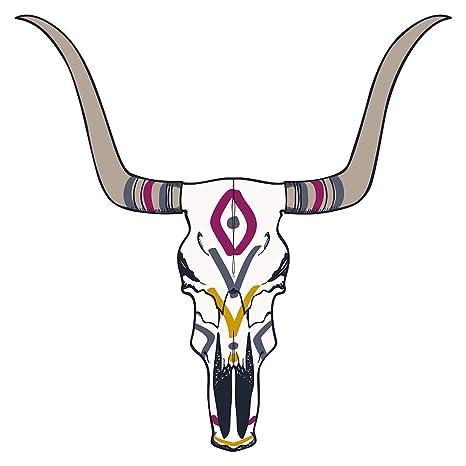 Pegatina de pared América salón Búfalo con estampado indio USA fieras bordadoras vida animal continente americano