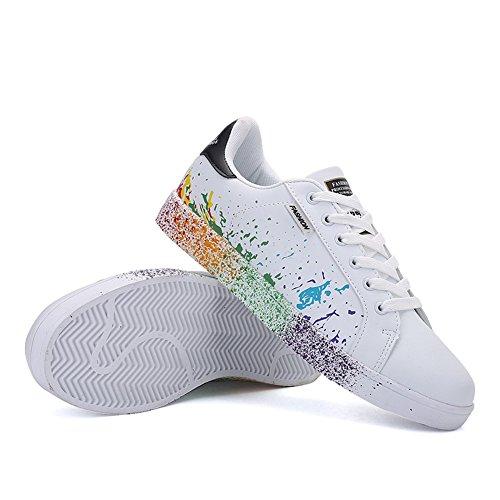 Femme Chaussures Gymnastique Basses Sneakers de Baskets Fitness Sport Lacet Homme Mode Classics JEDVOO fp5vw