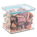 mDesign Pet Storage Container Box with Sealed Lid for Dog Food, Treats, Supplies - 2 Quarts, Clear