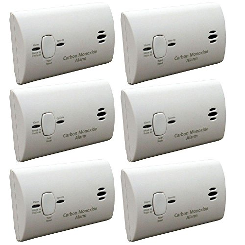 Kidde KN-COB-B-LPM Battery Operated Carbon Monoxide Detector, 6-Pack (Carbon Battery Operated Kidde)